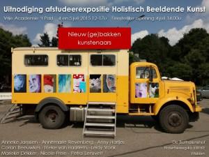 Uitnodiging afstudeerexpositie HBK-4 2015